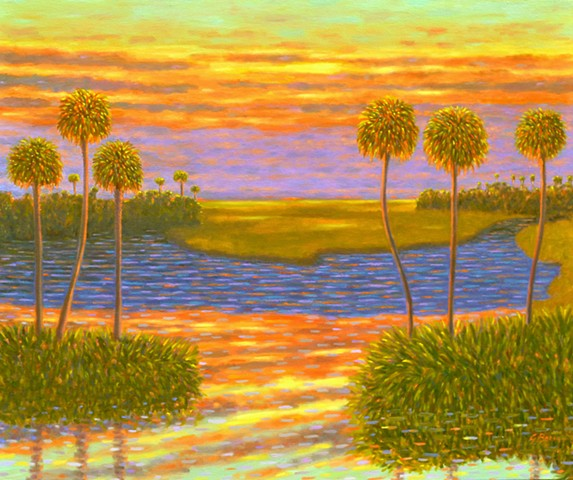Sunset Interlude by Florida Artist Gary Borse is available at 530 Burns Gallery Sarasota FL