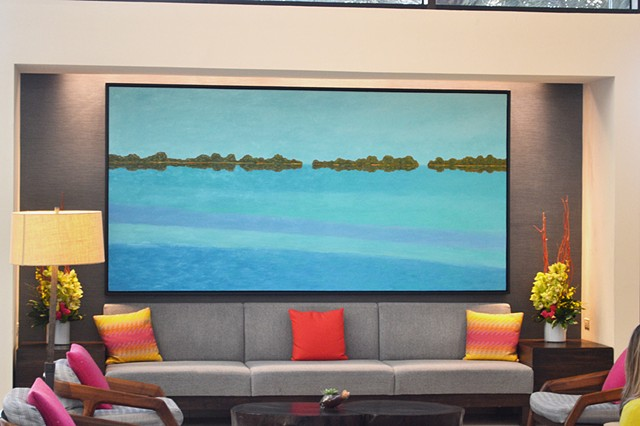 Dolphin Flats by Florida Artist Gary Borse is available at Lombard Contemporary Art at the Hyatt Grand Cypress Hotel Orlando Florida