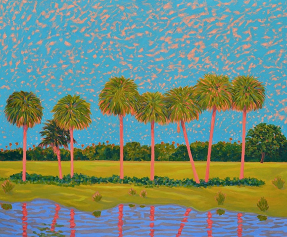 """The Royals"" painted by Florida Artist Gary Borse, acrylic on canvas 72 x 60, Collection of the State of Florida"