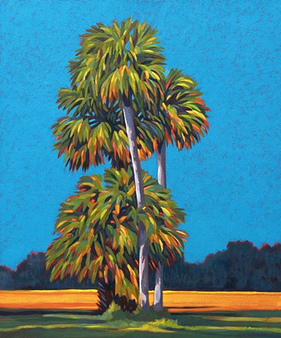 Symphony of Palms painted by  Florida Artist Gary Borse