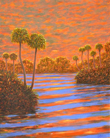 Sunset Concerto by Florida Artist Gary Borse available at Galleria Misto Bellair Bluffs, FL