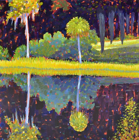 Sunbath painted by Florida Artist Gary Borse is available at Plum Art Gallery, St Augustine, FL