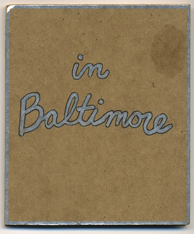 In Baltimore: Cover