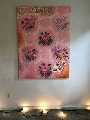 Big pink painting