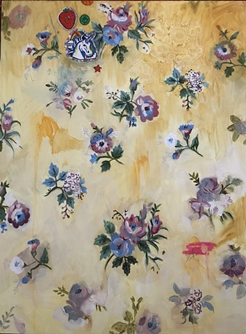 oil painting, floral, wall paper, vintage, roses, stickers, retro, yellow, abstract, strawberry, unicorn