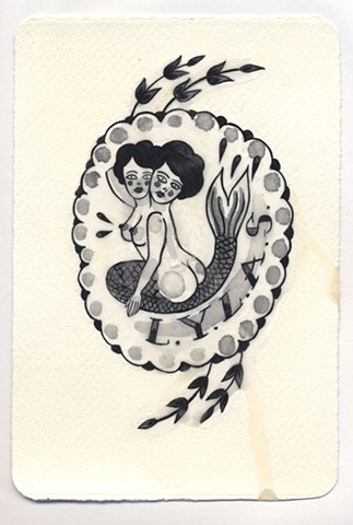 Traditional tattoo flash imagery inspired by femininity, mothering, death, love and grief.