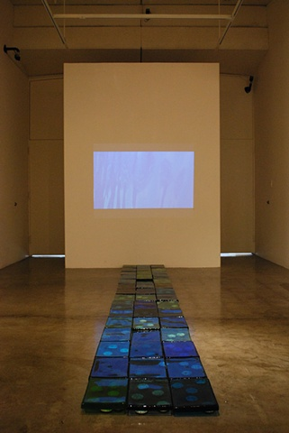 *Low Water*: video projection and installation