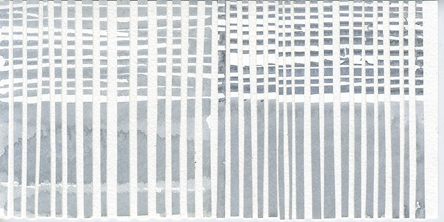 Water Study: Pale Grey Horizontal