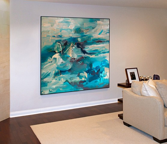 "Installation view of ""Abstract Landscape (ocean no.1)"""