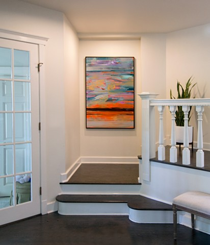 "Installation view of ""Abstract Study (stacked horizons no.2)"""