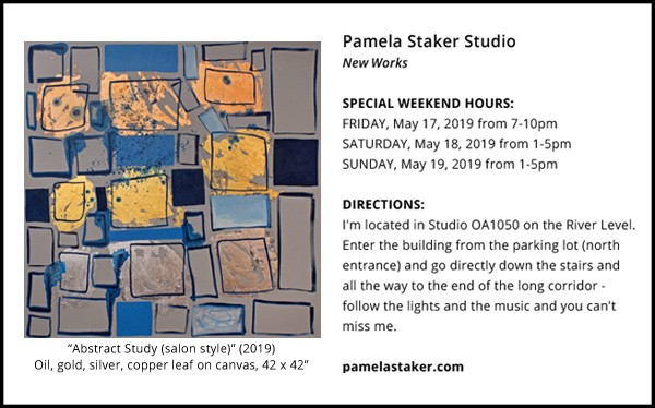 OPEN STUDIO ANNOUNCEMENT May 17-19, 2019