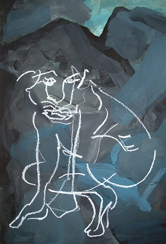 Untitled (blue figure)