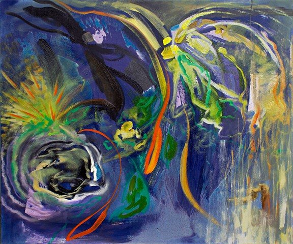 Abstract Study (garden at night)