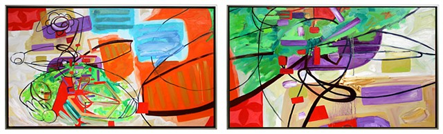 Study 2, Variation 3 (diptych)