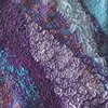 Purple and Blue Nuno Felted Scarf - detail