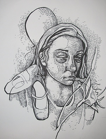 Drawing for Red Shoes engraving