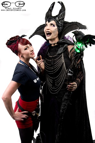 SyFy Face OFF's Chloe Sens with her Maleficent make up
