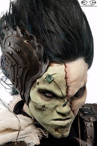 winner of the IMATS NYC Battle of the Brushes SFX Make Up Competition Jeannine Satterthwaite (shot at IMATS NYC 2014)