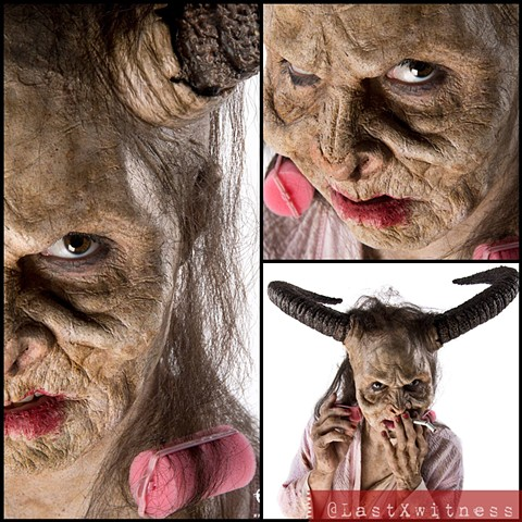 MUA Catherine Yuki and Niko Gonzalez from syfy's Face off (shot at IMATS NYC 2014)