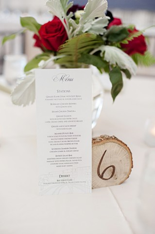 Menu & Table Number
