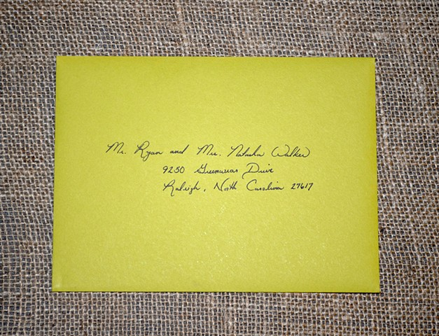 Mailing Envelope in Fancy Script