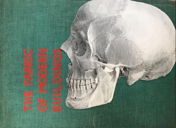skull fabric collage