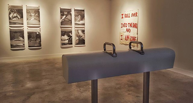 Installation view of  Roll over into the Darkness
