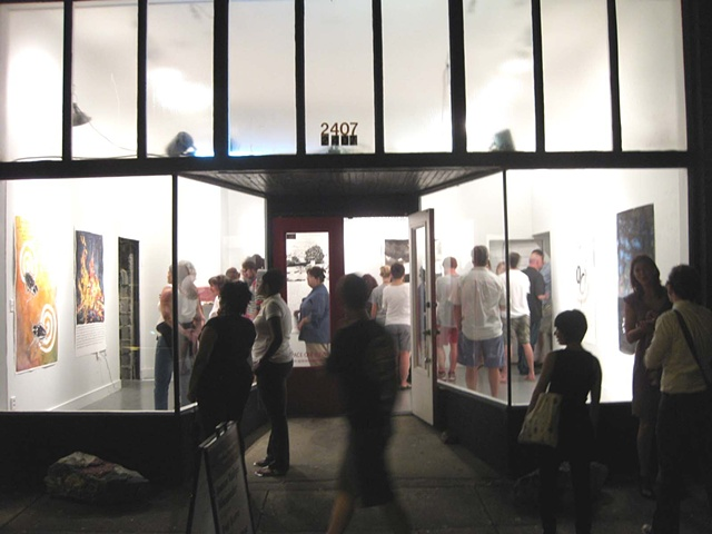 opening night picture of show at Space One Eleven  Gallery in downtown Birmingham Alabama