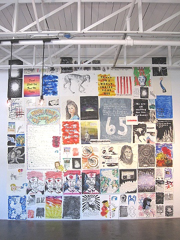 mix media wall installation at Lite Box Gallery Birmingham Alabama
