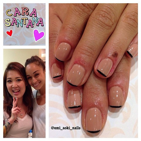 Simple Nude x Black for the actress/model/fashionblogger Cara Santana
