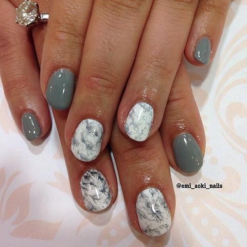 Grey x White Marble