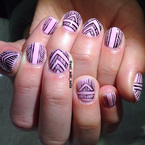Pastel Pink x Geometric
