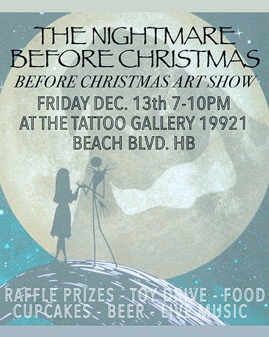 Nightmare Before Christmas art show