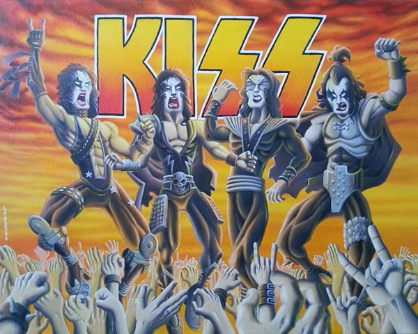 Kiss Painting 1