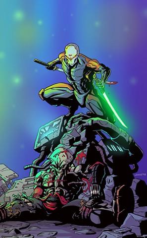 Cyborg Ninja vs. Yoshimitsu