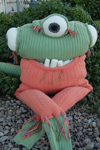 sweater monster, up-cycled sweaters.