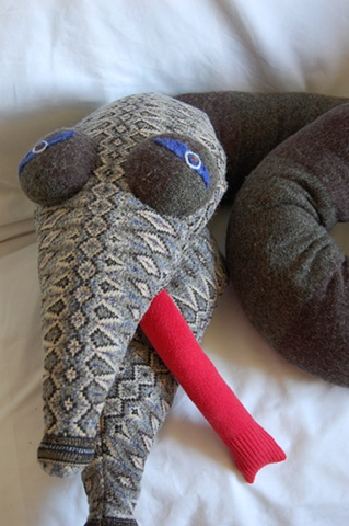 snake, upcycled sweaters, sweater monsters, UBz, stuffed animal, stuffies
