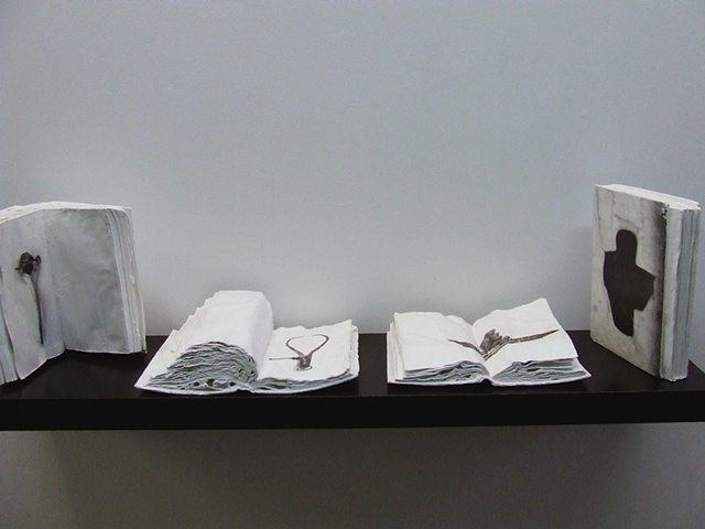 Installation View: Raw Materials & Rose Coloured Glasses