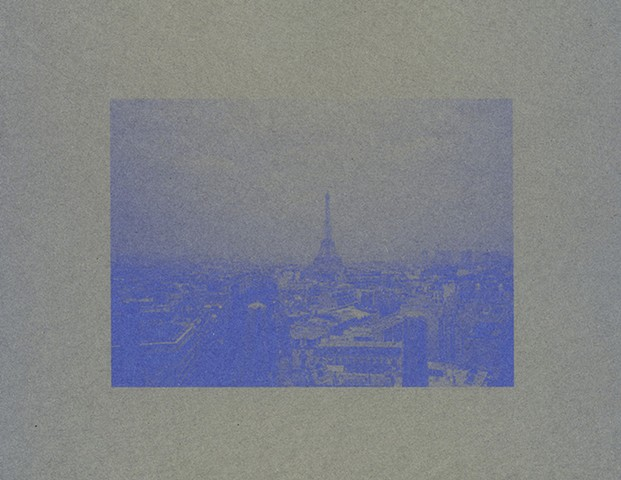 Paris, France in Blue (circa 1989)