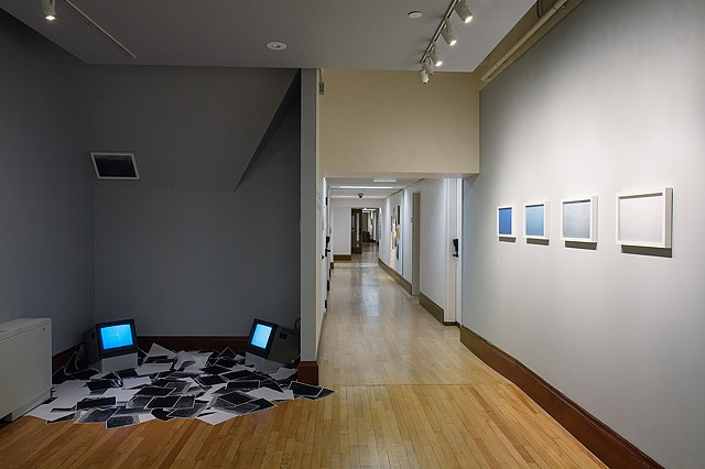 "Installation view of ""I Can't Hear What You Can't See"" at Emmanuel College's Gallery 5."
