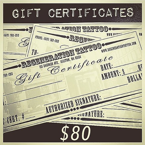 $80 Gift Certificate