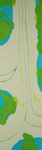 """2010 acrylic on panel 70x20"""""""