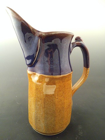 Pitcher in Shino with Purple rim