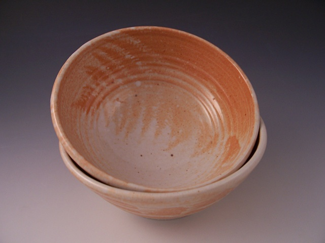 Cereal/Salad Bowl with Shino Fern Pattern