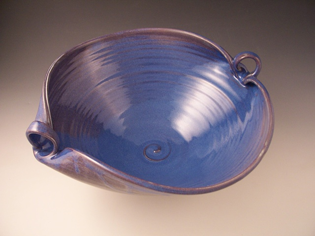 Large Serving Bowl with Loop Handles