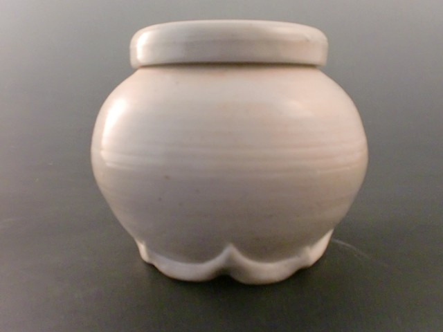 Covered Jar with Altered Foot
