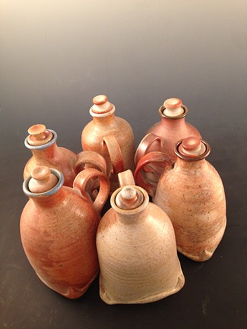Wood Fired Pour Bottles with stopper