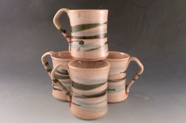 Medium mugs, check with pottery for availability.