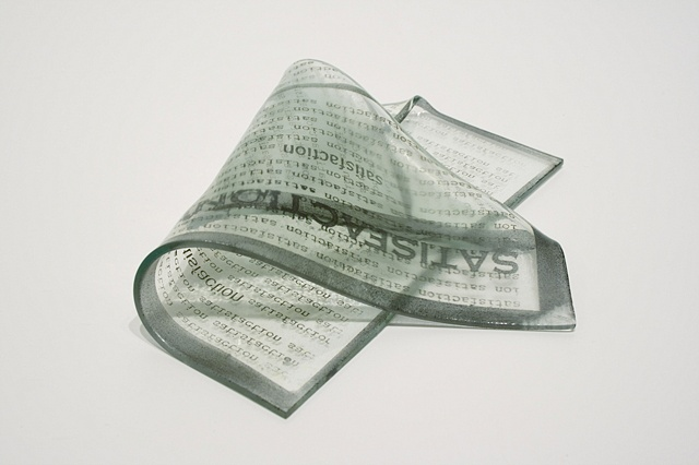 Hot-Formed Sheet Glass, Etched Text, Inl