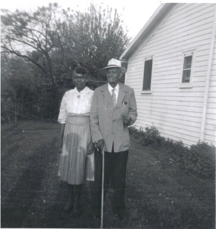 Sam Gibson and his second wife Minnie